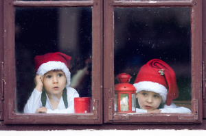 Boys waiting for Christmas