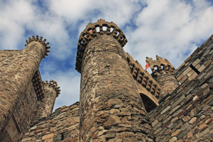 Medieval Templar Castle of year 1178 in Ponferrada, Spain